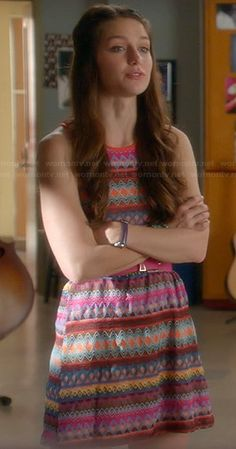 Marley Rose Fashion on Glee Tv Show Outfits, Cool Outfits, Glee Fashion, Fashion Outfits, Melissa Supergirl, Marley Rose, Teen Vogue, Embroidery Dress, Dress Patterns