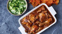 Gammeldansk kylling med sure agurker og potetchips