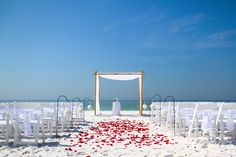 ♥ Beach Wedding Ceremony beach vow renewal ceremony