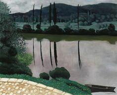 La Dordogne à Vitrac (1925), by Félix Vallotton (1865-1925).