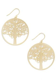 To a Tree Earrings, #ModCloth