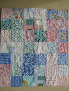 A not so random quilt design. Good idea for involving kids in quilting projects.