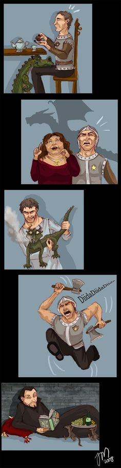 Pratchett doodles - Guards by yenefer.deviantart.com on @deviantART