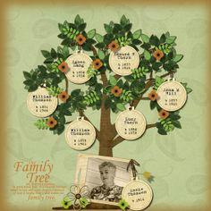 scrapbook family tree - Google Search