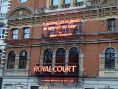 The Royal Court Theatre in Chelsea (my flat overlooked this theatre)