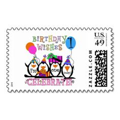 Silly Penguins 1st Birthday Tshirts and Gifts Postage. Wanna make each letter a special delivery? Try to customize this great stamp template and put a personal touch on the envelope. Just click the image to get started!