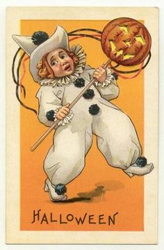 Clown With JOL Stecher Series 408 E Halloween Postcard 1910-15 | eBay
