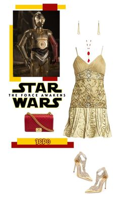 """Star Wars: The Force Awakens ^TS"" by rosie305 on Polyvore featuring Chaps, Chanel, René Caovilla, Sue Wong, Robert Lee Morris, starwars and contestentry"