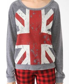 Distressed Union Jack Pullover | FOREVER 21 - 2000048519