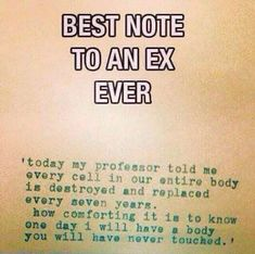 Ex note funny breakup quotes, single quotes humor, breakup humor, divorce q Breakup Humor, Breakup Quotes, True Quotes, Funny Quotes, Heart Quotes, Humor Quotes, Single Quotes Humor, Being Single Quotes Funny, Qoutes