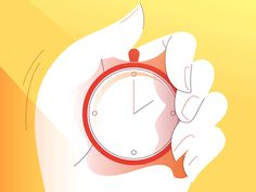 Stopwatch by Alona Shostko Business Illustration, Graphic Design Illustration, Cute Illustration, Anim Gif, Vector Animation, Motion Graphs, Free Baby Shower Printables, Gifs, Powerpoint Background Design