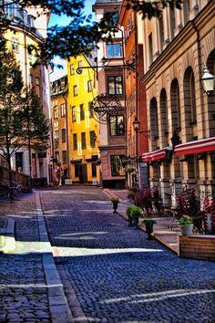 Stockholm , Sweden!  My favorite restaurant in the world, (0ver 500 years old). Just around the corner:)