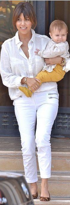 Kourtney Kardashian: Shirt – Sam & Lavi  Shoes – Christian Louboutin