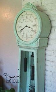 shabby grandfather clock -