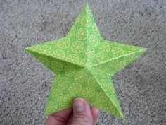3-D paper stars
