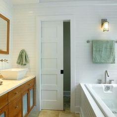 Bathroom Pocket Door, separating the toilet room in guest room & master