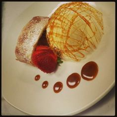 Apple and raisin strudel with french vanilla ice cream #jwuculinary. Submitted by Swastika Bharat.