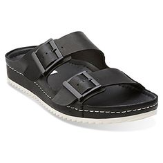 5578a2412322a Clarks Netrix Rose Womens Black Leather Sandal 10MEDIUM -- See this great  product.(This is an Amazon affiliate link and I receive a commission for  the ...