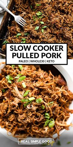 Healthy Pulled Pork, Pulled Pork Recipes, Easy Crockpot Pulled Pork, Pulled Pork Tacos, Crockpot Shredded Pork, Shredded Pork Recipes, Pork Shoulder Butt Recipe, Recipe Pork Butt, Recipes