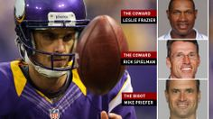 """""""I Was An NFL Player Until I Was Fired By Two Cowards And A Bigot.""""  This provocative title of Chris Kluwe's side of the story of his football career's end sums up Chris' beliefs about his ex-coaches and their motivations.  But in the article, Kluwe clearly tries to establish a degree of objectivity not shown in the title (clickbait much?).  Worth a read."""