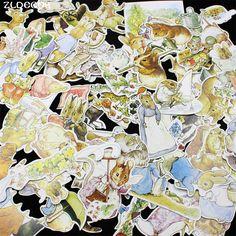 ZLDECOR 100 st Mooie Konijnen Cardstock Die Cuts voor Scrapbooking Gelukkig Planner/Card Making/Journaling Project