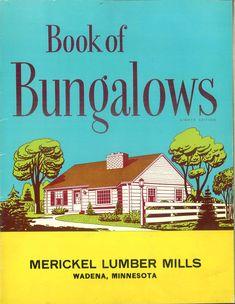Book of bungalows: 50 designs Bungalow Homes, Bungalow House Plans, Small House Plans, Bungalow Designs, Architecture Blueprints, Vintage Architecture, Vintage House Plans, Vintage Homes, Minimal Traditional