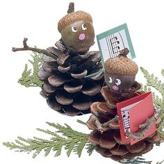 Holiday Craft: Pinecone Carolers
