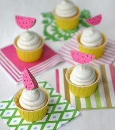 Watermelon Cupcake Picks | Oh Happy Day!