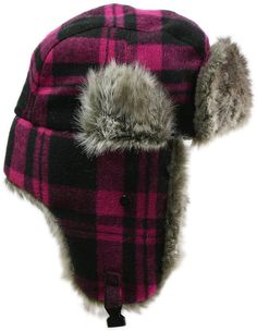 0bc0dbb2d5c Amazon.com  LL- Womens Winter Trooper Trapper Hat Faux Fur Ear Flap Bomber