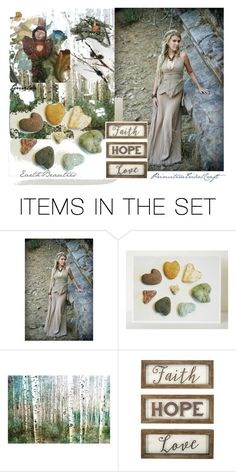 """Earth Beauties"" by artspirit ❤ liked on Polyvore featuring art, artdolls, Awesomeart, PrimitiveTribalCraft and EarthBeauties"