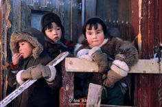 Eskimo children in Greenland--  stock.irablock.com