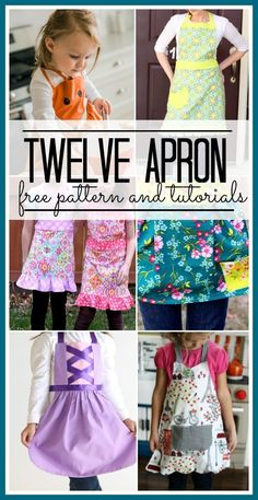 12 free apron patterns and tutorials!                                                                                                                                                                                 More