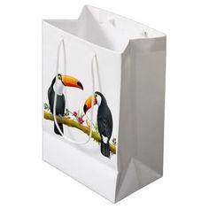 Tropical Toucan Birds Gift Bag Medium - animal gift ideas animals and pets diy customize
