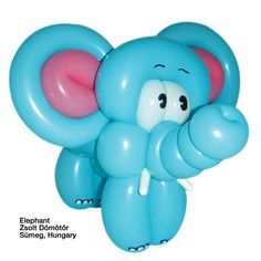 remember to draw feet details on balloon elephants Balloon Centerpieces, Balloon Decorations, Baby Shower Decorations, Balloon Flowers, Red Balloon, Easy Balloon Animals, Elephant Balloon, Balloon Modelling, Balloon Crafts