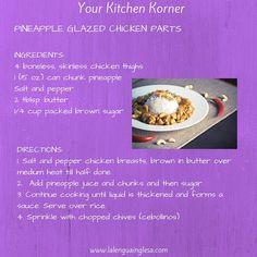 Una receta de cocina ingles