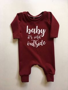 Baby it's cold outside romper https://presentbaby.com