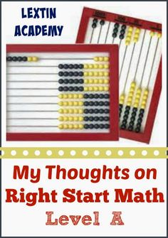 Lextin Academy of Classical Education: Right Start Math Level A