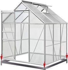 Polycarbonate Aluminium Greenhouse Protect Plants Growhouse Garden Cold Frame