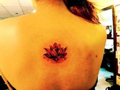 red lotus tattoo-pretty, but too small for this placement imo...