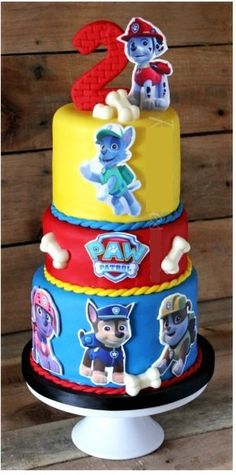 Edible Paw Patrol Cake Topper pack Large wafer Paw by ChrisCakeArt