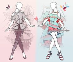 [OPEN OUTFIT AUCTION] Pale and Bright by Black-pantheress.deviantart.com on @DeviantArt