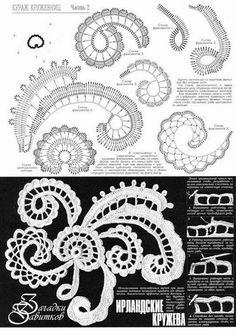 Letras e Artes da Lalá: Crochê irlandês - Irish lace