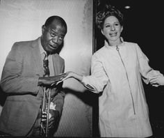 Streisand with Louis Armstrong