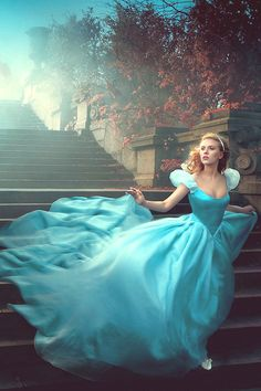 Annie Leibovitz Disney Dream Portrait with Scarlett Johansson as Cinderella