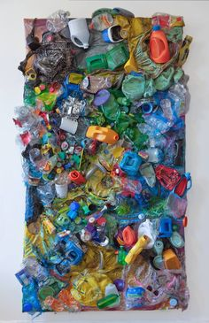 "Saatchi Art is pleased to offer the artwork, ""Garbage Patch,"" by simone spicer, … – Ocean Trash Waste Art, Recycled Art Projects, Trash Art, Found Object Art, Plastic Art, A Level Art, Environmental Art, Abstract Expressionism Art, Art Plastique"