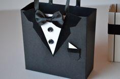 Black tuxedo favor/gift bags | Autumbless - Wedding on ArtFire
