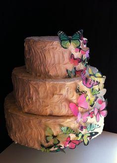 Edible butterflies for a wedding cake by SugarRobot's Etsy Shop