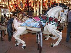 Horse, Wooden, Carousel, Retro