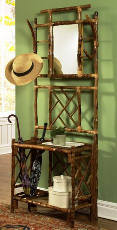 Design Chic - Bamboo and Rattan Hall Tree, $537.50 (http://www.shopdesignchic.com/bamboo-and-rattan-hall-tree/)