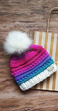 Crochet Patrones Gorros Mujer New Ideas Crochet Beanie, Crochet Baby, Knitted Hats, Knit Crochet, Crochet Flower, Loom Knitting, Baby Knitting, Knitting Patterns, Crochet Patterns